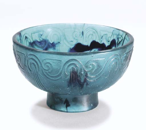 A Pâte-de-Cristal Vase, circa