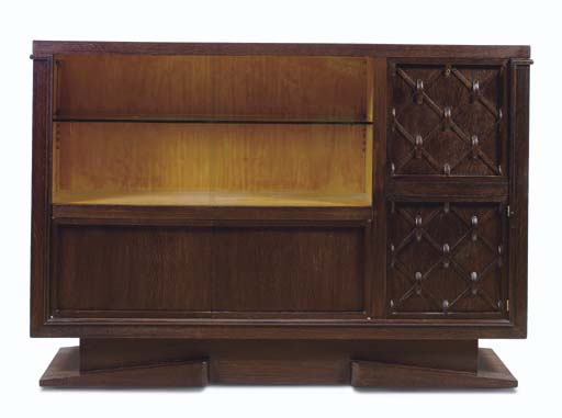 An Oak and Glass Cabinet, 1930