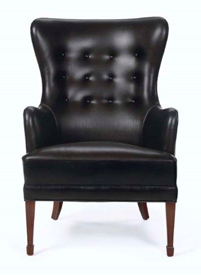 A Leather Upholstered Mahogany