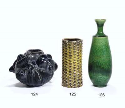 A Glazed Ceramic 'Budding' Vas