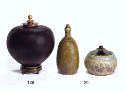 A Glazed Ceramic Vase with Bro
