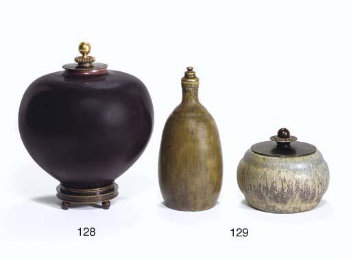 Two Glazed Ceramic Vessels wit