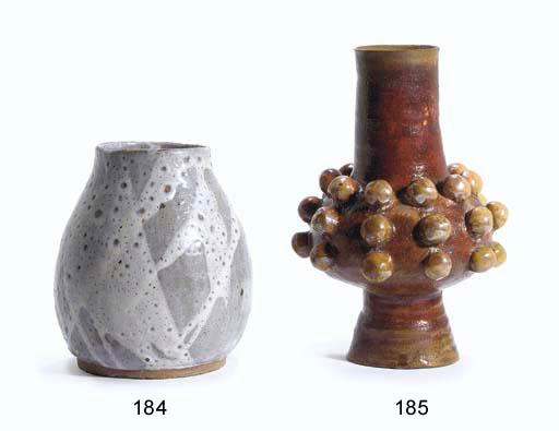 A Crater Glazed Ceramic Vase