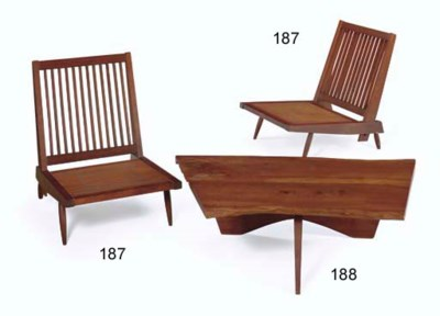 A Pair of Walnut Lounge Chairs