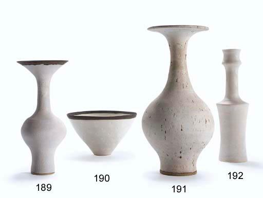 A Glazed Ceramic Baluster Vase