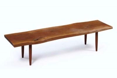A Walnut Bench, 1960s