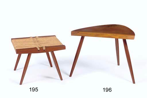 A Walnut Tripod Side Table, ci