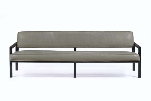 A Painted Steel and Vinyl Sofa