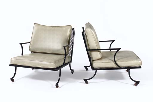 A Pair of Upholstered Painted