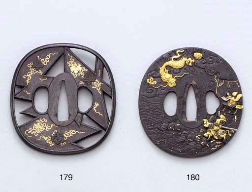 An Iron and Mixed-Metal Tsuba