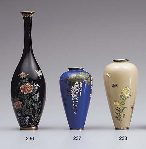 A Cloisonné Enamel Bottle Vase
