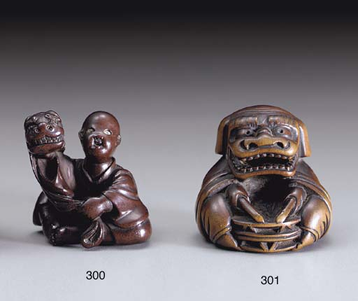 An Edo-School Wood Netsuke and