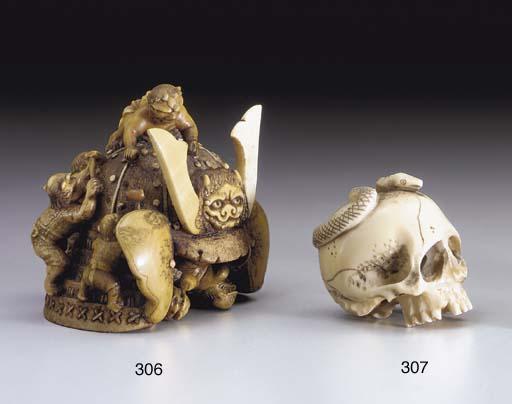 A Bone and Ivory Okimono**