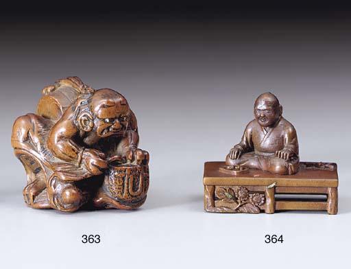 An Edo-School Wood Netsuke**
