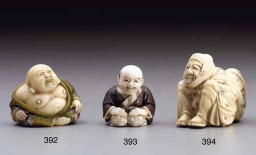 A Colored Ivory Netsuke**