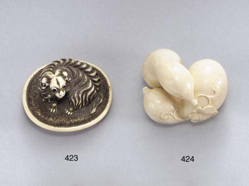 Two Kyoto-School Ivory Netsuke