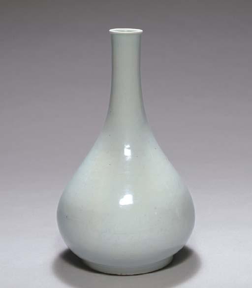 A Large White Porcelain Bottle