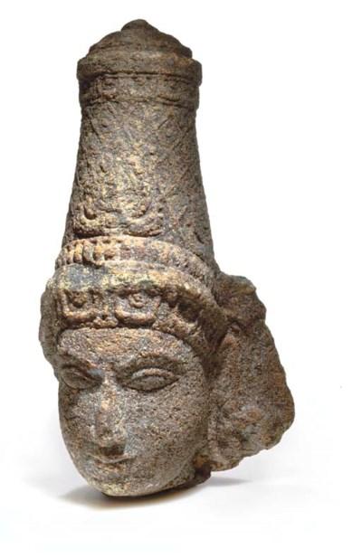 A Granite Head of a deity