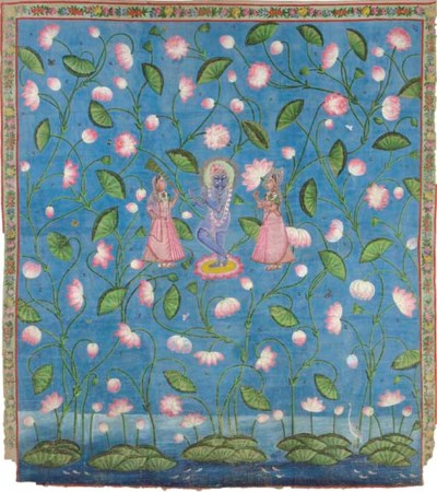 A Pichhavai of Krishna with tw