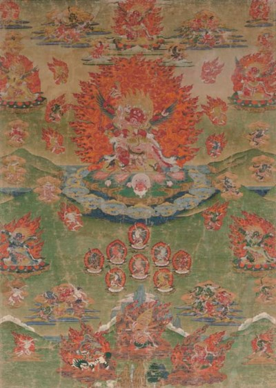 A Thangka with the Wrathful De
