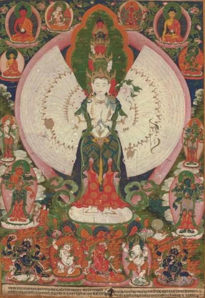 A Thangka of Avalokiteshvara