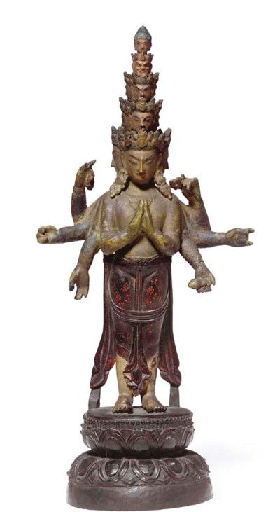 A Zitan wood figure of Avaloki