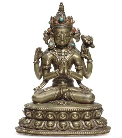 A bronze Figure of Sadakshi Av