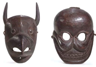 Two Wooden Masks of Garuda and