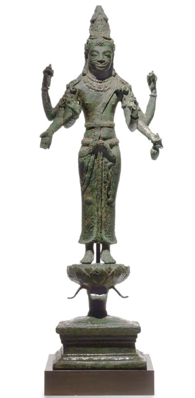 A rare bronze figure of Avalok