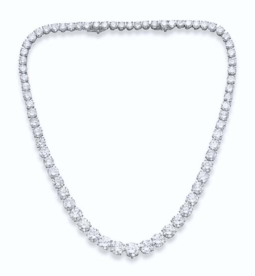 A DIAMOND LINE NECKLACE, BY CA