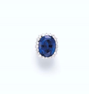 AN EXTREMELY FINE SAPPHIRE AND