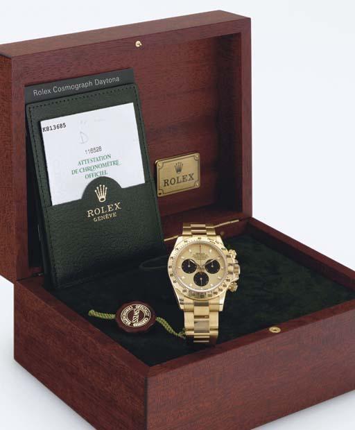 ROLEX. AN 18K GOLD AUTOMATIC C