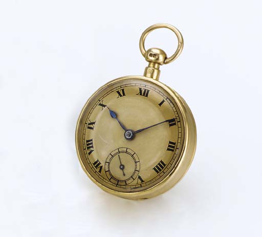 BARWISE. AN 18K GOLD OPENFACE