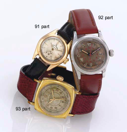 ROLEX. A GROUP OF THREE STAINL