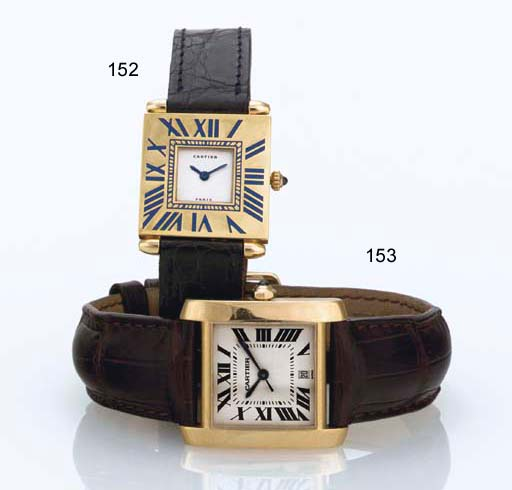 CARTIER. AN 18K GOLD AND ENAME