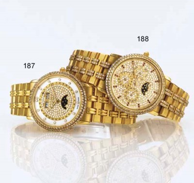 BLANCPAIN. A FINE 18K GOLD, DI