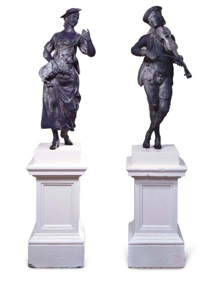 TWO ENGLISH LEAD FIGURES OF A