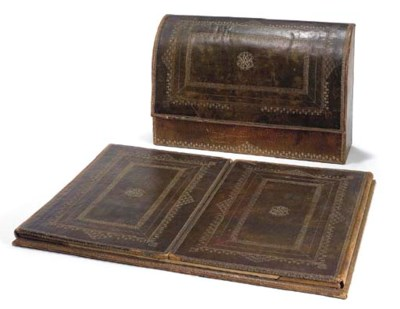 A GOLD-EMBOSSED LEATHER BLOTTE