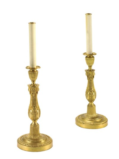 A PAIR OF AMERICAN GILT-METAL