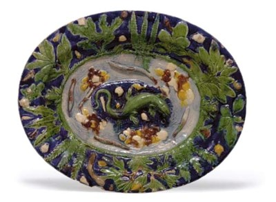 A FRENCH PALISSY STYLE RUSTIC