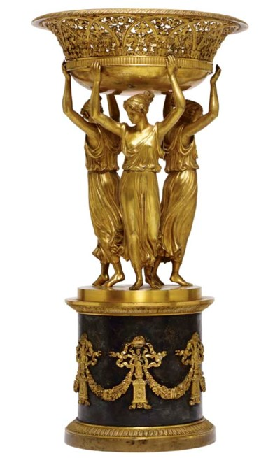 A CHARLES X ORMOLU AND SILVERE