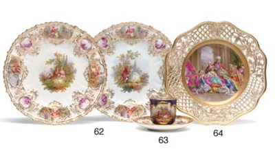 A PAIR OF MEISSEN 'JEWELLED' C