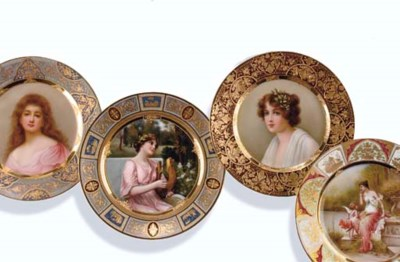 FOUR VIENNA STYLE CABINET PLAT