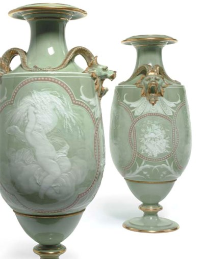 A PAIR OF SEVRES EXHIBITION (S