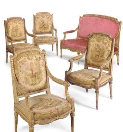 A Louis XVI style painted and