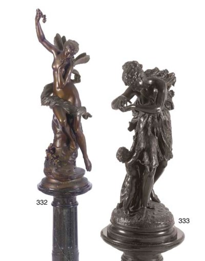 A French/Italian bronze group