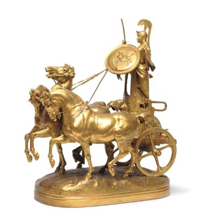 A French gilt-bronze group ent