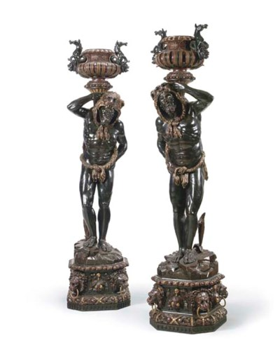 A pair of monumental Venetian