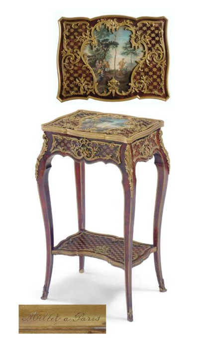 A Louis XV style ormolu-mounte
