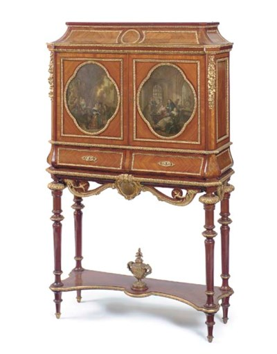A French ormolu-mounted and po